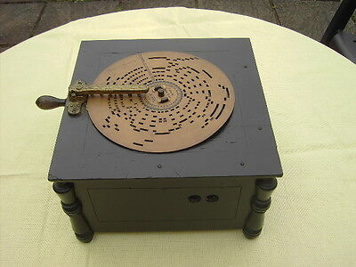 Antique German Organette Mechanical  Music Disc Player  -Working Order.