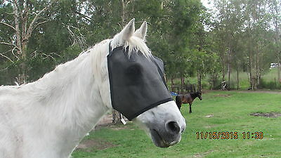 NEW HORSES BLACK  FLY MASKS HIGH VISABILITY(Medium)