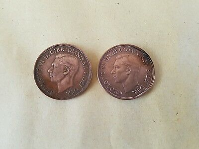 George V1 1950 And 1952 Half-Penny
