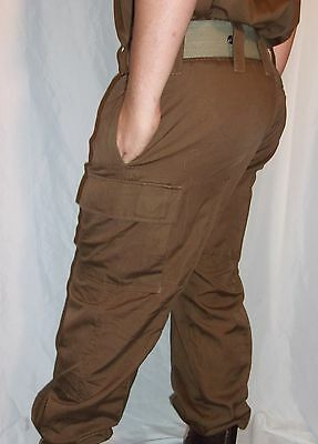 South African SADF Nutria Brown Combat Trousers- Size Small - US 28 Waist
