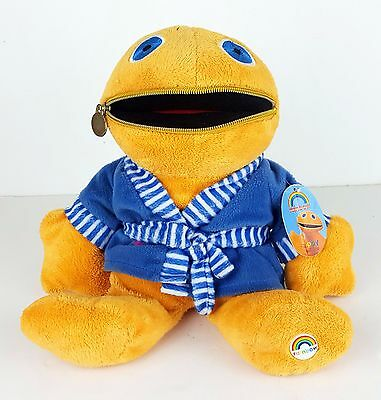 """Official ZIPPY 8"""" Soft Toy Plush in Blue Dressing Gown RAINBOW Collectable"""