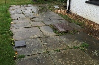 Reclaimed York Stone Paving 32 sq M Approx