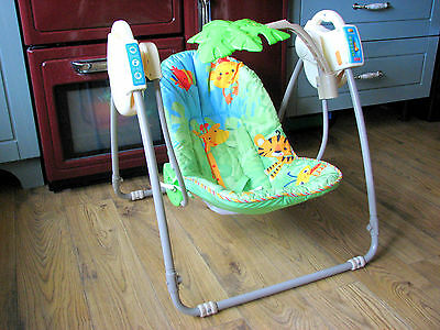 Fisher Price Rainforest Baby Musical Take Along Swing
