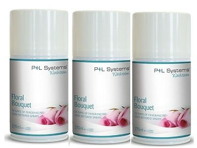 Floral Bouquet, automatic air freshner refill, P+L Systems 3 x 270ml