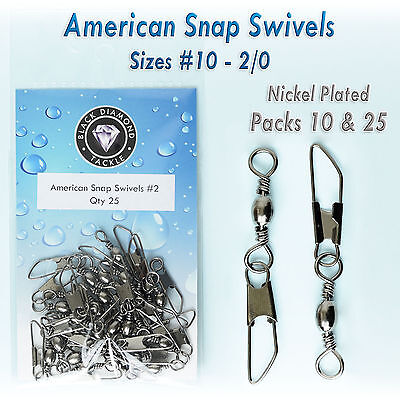 Sea Fishing Snap Swivels   Quick Change   All Sizes Pack 10, 25 Premium Tackle