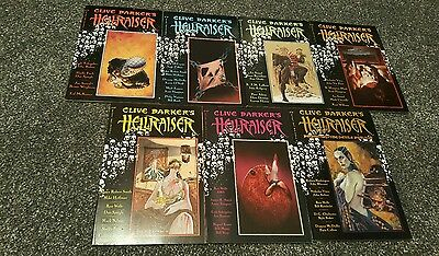 clive Barker's hellraiser graphic novels volume 1-7 very rare