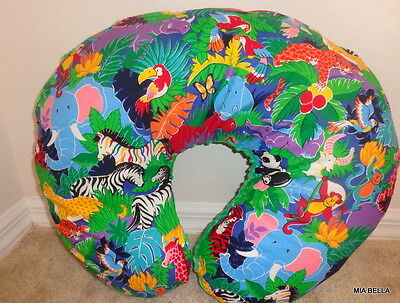 UrbNew  Handmade Bright Colorful Zoo Animals Boppy Cover