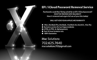 EFI / iCloud Password Lock Removal Service -ALL MODELS!! FREE Return Shipping