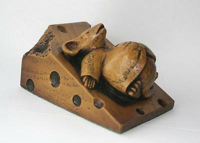 Church Mouse Asleep on Cheese - Reproduction Carving -