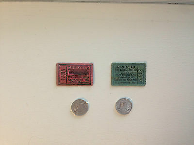 TTC Toronto Transportation Commission Transit Tokens and Tickets - LOT of 4