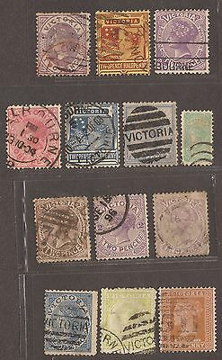 C1890 Victoria Australia / Queensland Stamps Used  See Scan For Back And Front