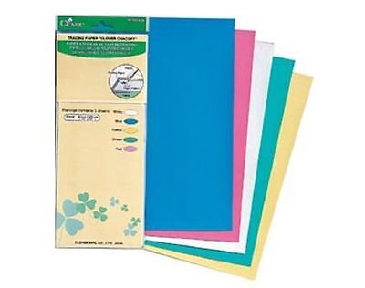 CLOVER carbon paper 30cm x 25 cm 5 sheets Pkt Tracing Paper to Fabric 5 colours