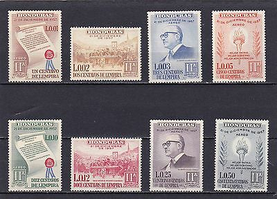 HONDURAS #C301-C308 MNH 2nd ANNIV. OF 2nd REPUBLIC OF HONDURAS