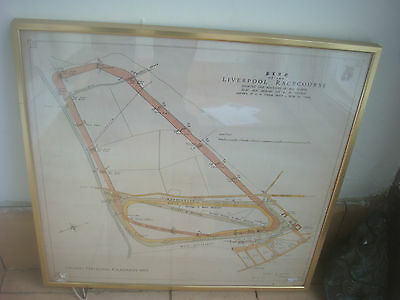 Grand National Campaign 1983 Liverpool Aintree Racecourse Map Plan