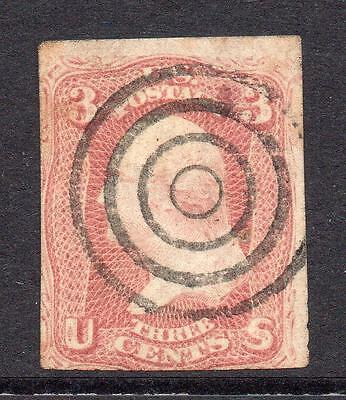U.S.A. Early 3 Cent Stamp Used (tiny tone)