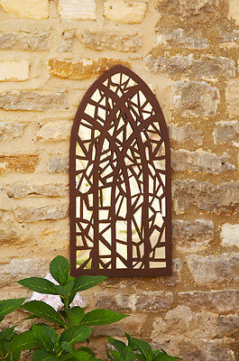 Gothic Arch Garden Mirror Heart Shaped Antique Style Decorative Wall Mirror