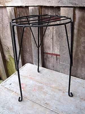 Vintage Hairpin Leg Style Iron Plant Stand Home & Garden Kitchen Bed Bath Patio