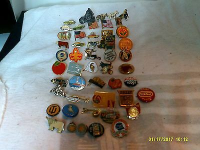 Junk Drawer Lot Of 50 Lapel Pins With Some Vintage