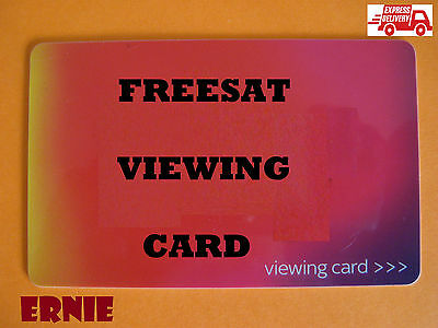 ACTIVATED RED VIEWING CARD FOR FREESAT HD CHANNELS. Clear instructions.2016 PIN