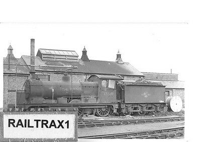 Railway Steam Photograph - 65541 & Worker At March Loco Shed - 18/2/1962. (Br).