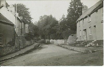 Social History, Tranquil Street Scene In Unknown Village, Photo Postcard