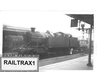 Railway Steam Photograph - 7216 At Cardiff Station. (Old Darkroom Photo!). (Br).