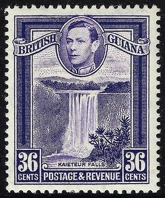 SG 313a BRITISH GUIANA 1951 - 36c BRIGHT VIOLET - MOUNTED MINT