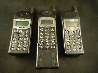 2 Philips TCD 308 and a TCD 408 mobile phones for spare parts - not working