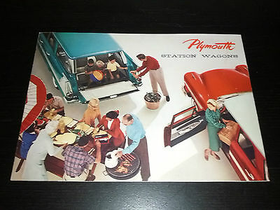 Vintage 1950's Plymouth Station Wagon Dealers Brochure