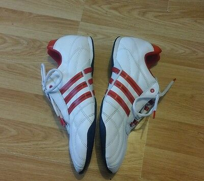 Mens Adidas Football Trainers - Size 9 - White & Red