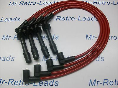 Red 8.5Mm Performance Ignition Leads To Fit C20Xe 2.0 Vauxhall Astra Cavalier.