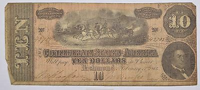 Feb 17, 1864 Ten Dollars Confederate States of America Richmond, VA Note *P46