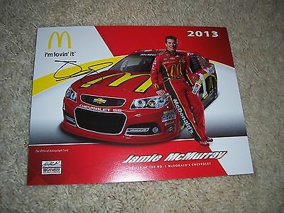 Jamie McMurray hero card  photo signed with COA Autographed
