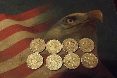 Eight Silver Roosevelt Dime Lot