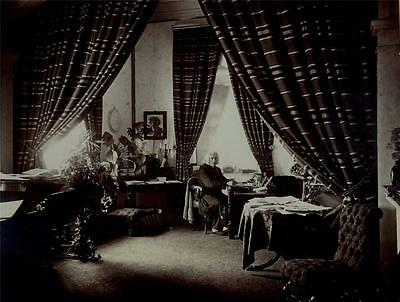 Franz Liszt In His Study In Weimar. Large Albumen Print By Louis Held