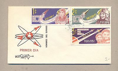 Caribbean 1963  FDC cover .Space Gagarin Titov.See scan.