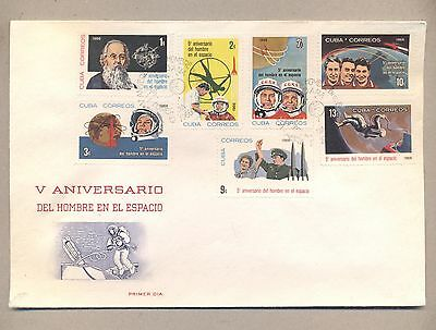 Caribbean 1966  FDC cover .Space Five Years First Men in Space.See scan.