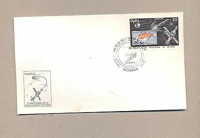 Caribbean 1987  FDC cover .Space 70 Years Revolution.See scan.