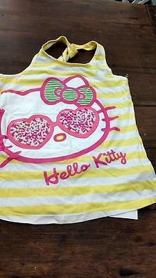 M&S hello kitty pink & yellow tshirt age 12 years BNWT