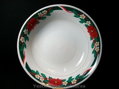 "A Beautiful 9 1/4"" Serving Bowl by Tienshan Fine China. Deck the Halls"