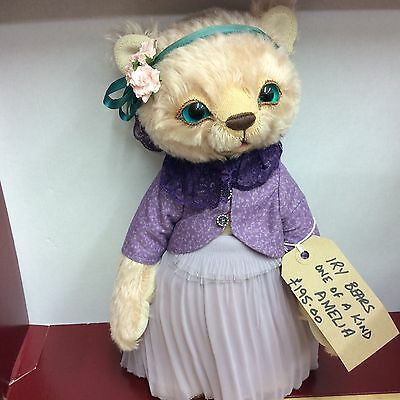 Ooak Artist Bear Amelia Jointed Mohair Bear  By Iry Bears New Now Reduced