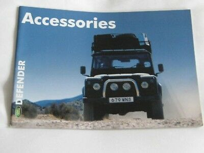 2001  Land Rover  Defender Accessories 38 Page  Brochure