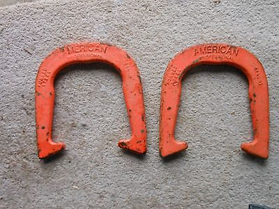 1 pair ST PIERRE AMERICAN PROFESSIONAL pitching horseshoes forged horse shoes