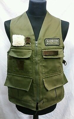 Mens Barbour International Fishing Vest / Waistcoat Size Medium