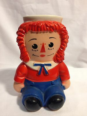 Raggedy Anne ANDY Vintage Bank - collectible 1970s ANDY
