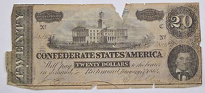 Feb 17, 1864 Twenty Dollars Confederate States of America Richmond, VA Note *P65