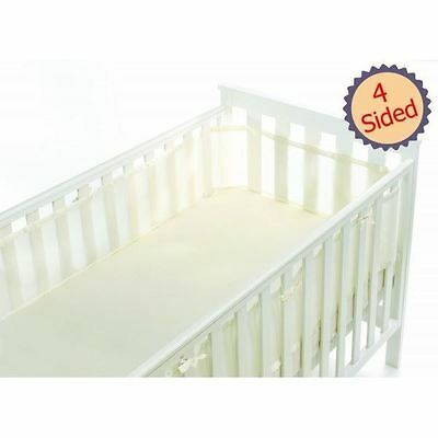 Breathable Baby 4-Sided Mesh Cot Liner - Ecru