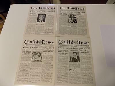 First 4 Issues of 1946 March Guild News Fisher Body Craftsman's Guild Newsletter
