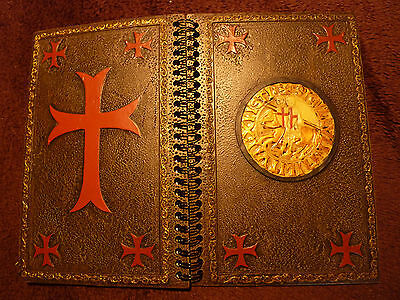 Knights Templar Notebook with Templar motif on cover (two knights on horse)