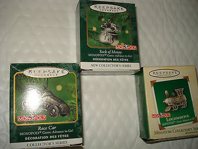 Hallmark Ornaments MONOPOLY Complete Series 2000 2001 2002
